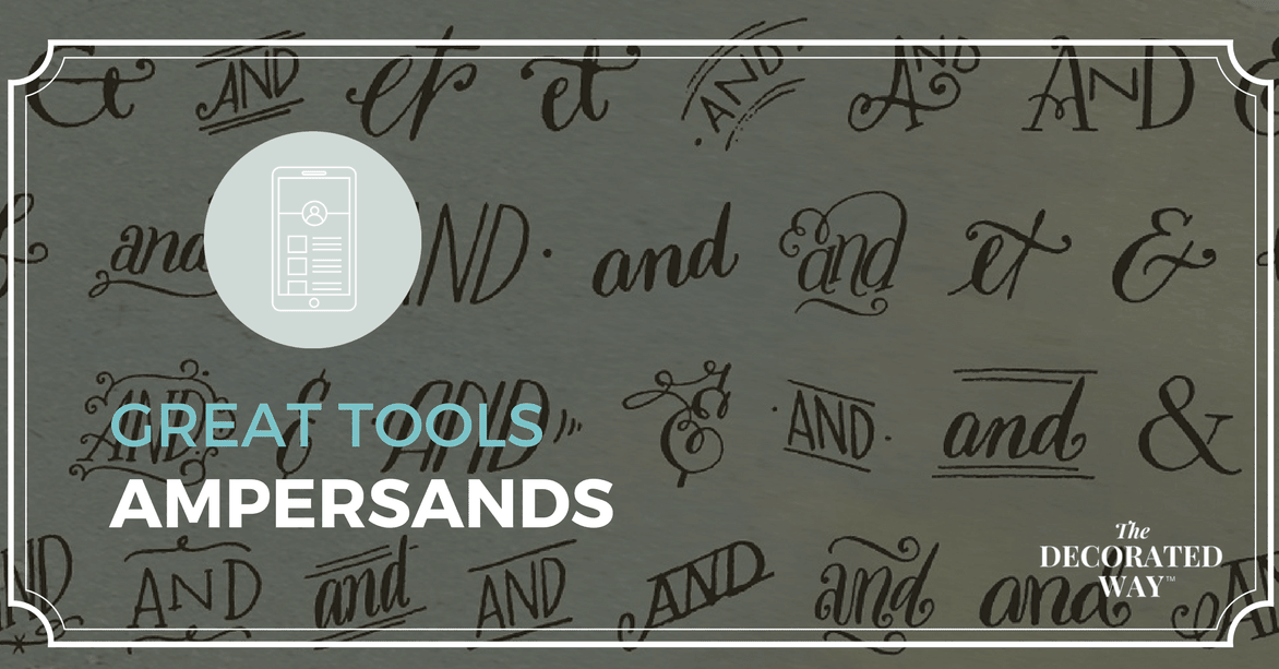 Great Tools - Ampersands