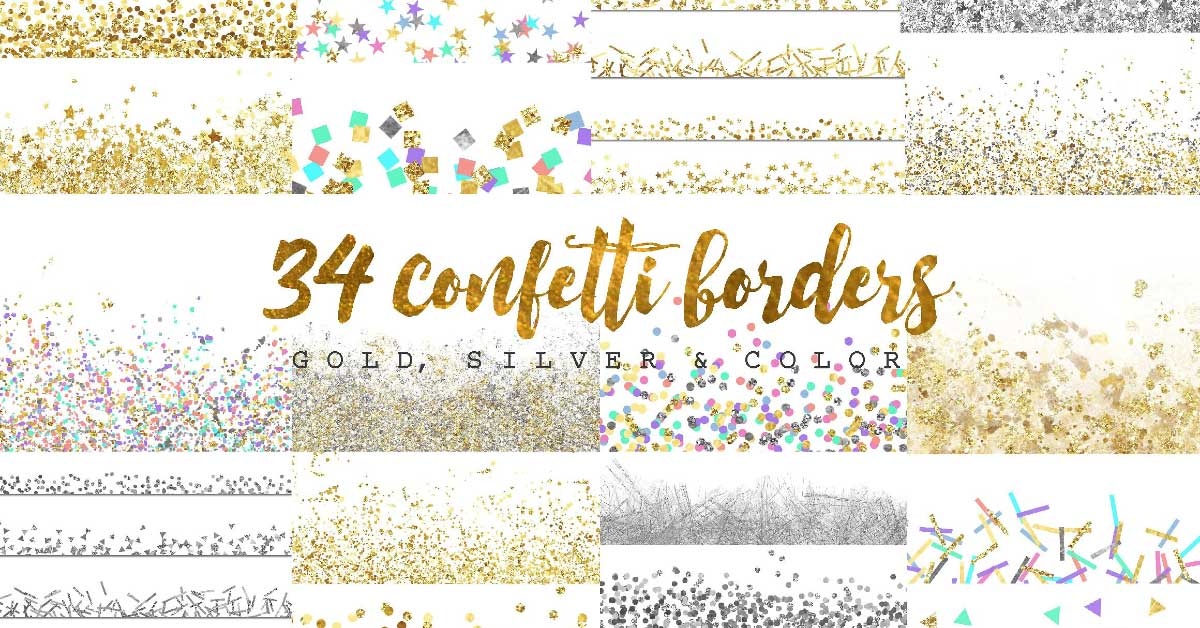 Digital confetti by Graphic Rain on Creative Market